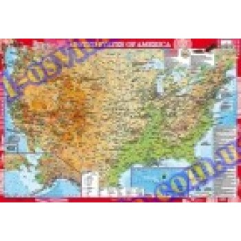 Географічна карта країни: USA (США) м-б 1:3 000 000