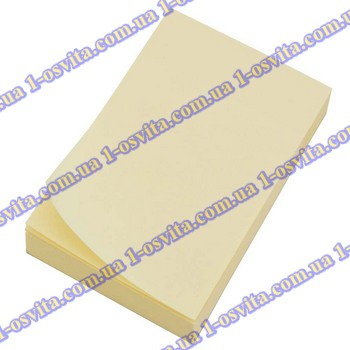 Бумага с липким слоем 75*50мм желт. 100л L1202